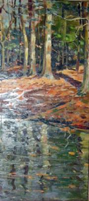 Wayne Morrell Lake Oil Painting